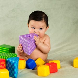 Baby with blocks